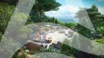 В продаже однокомнатная квартира 44 м² с шикарным видом на море и гору Кастель и Аю-Даг.